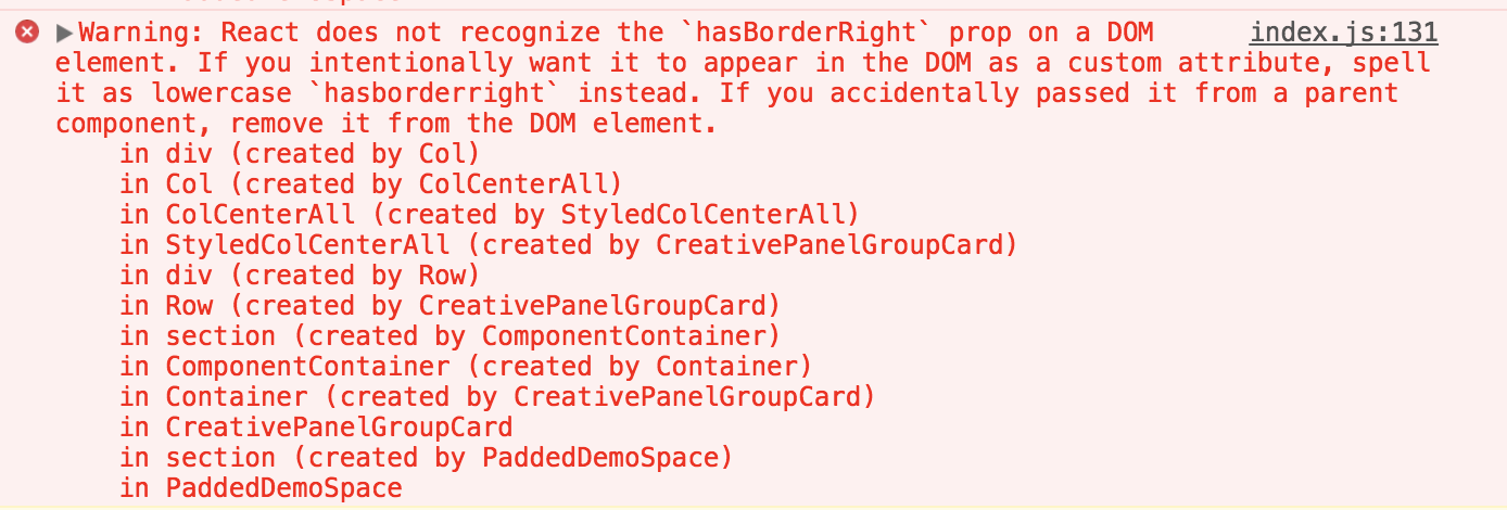 When I try to use styled component to style reactstrap