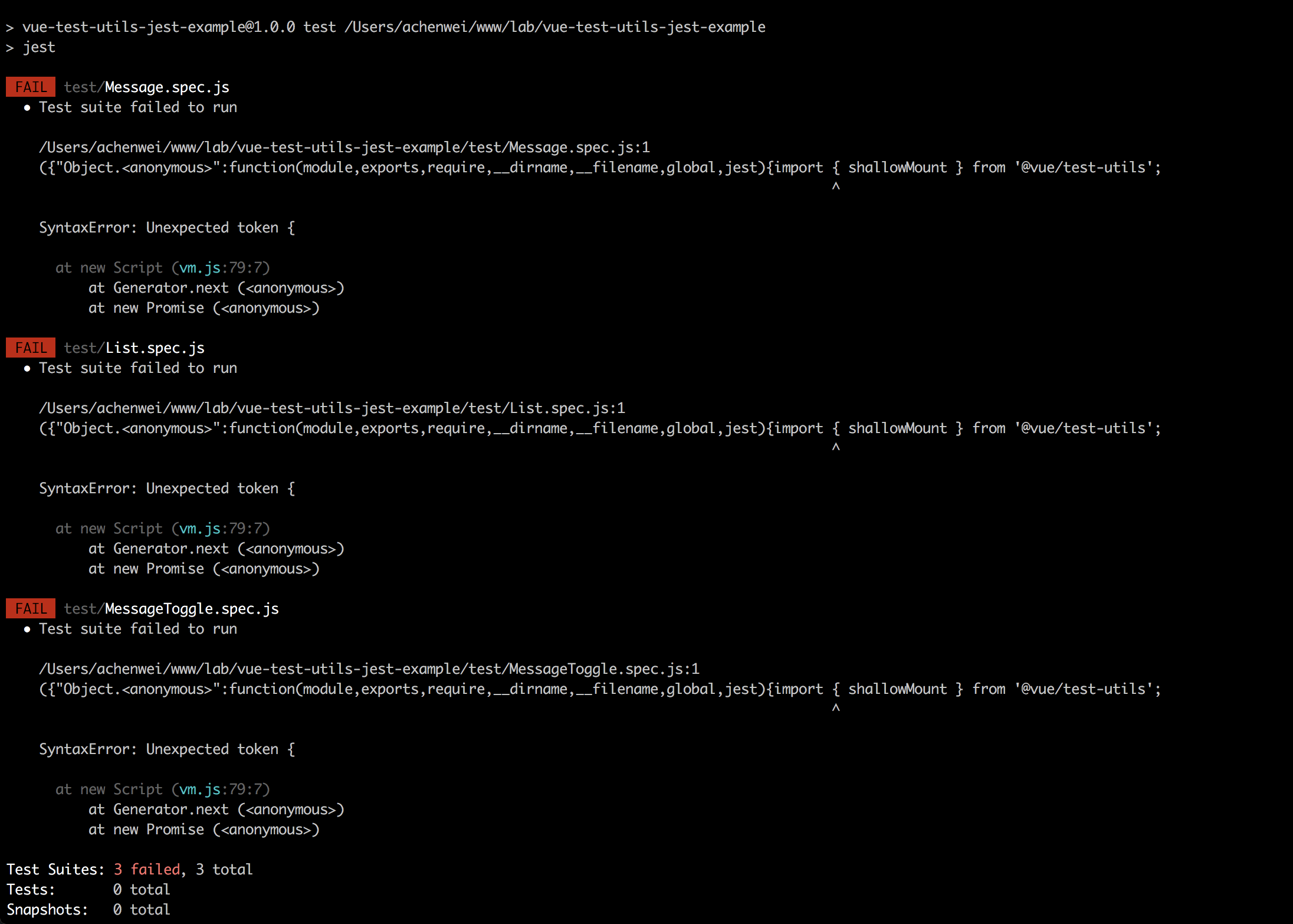 the whole example broken SyntaxError: Unexpected token