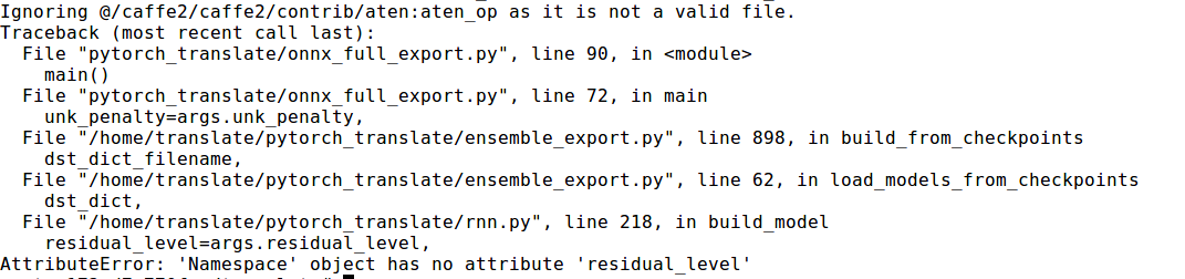 Export a fairseq trained transformer (base) model · Issue #462