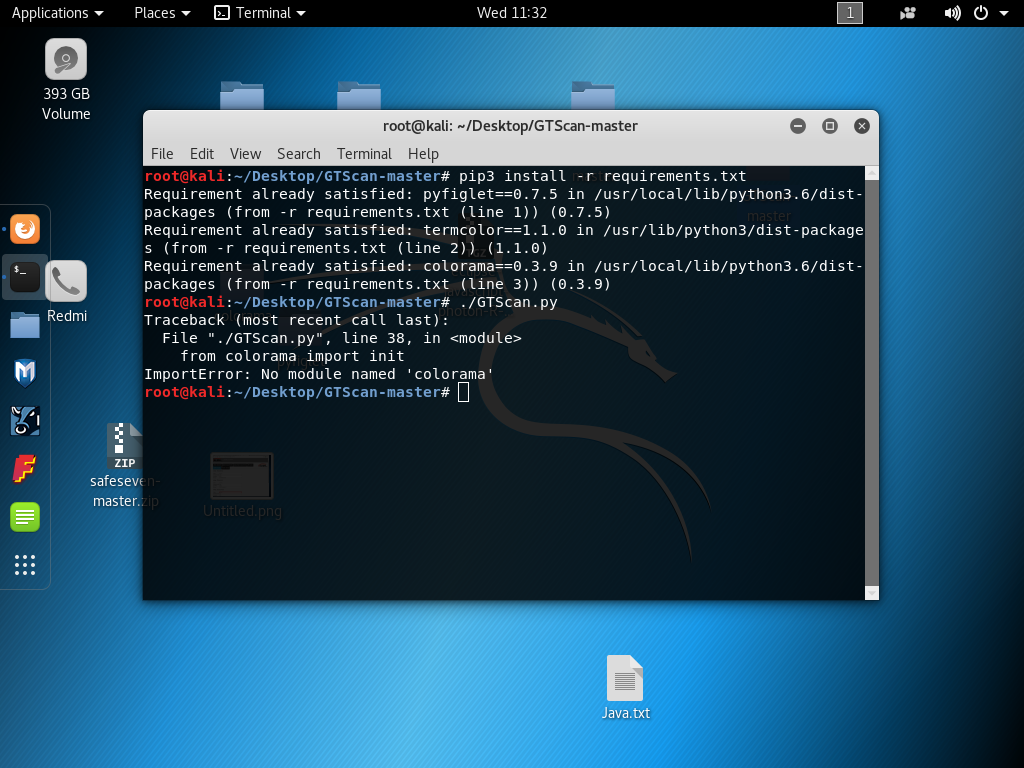 GTScan not run in kali linux · Issue #4 · SigPloiter/GTScan · GitHub