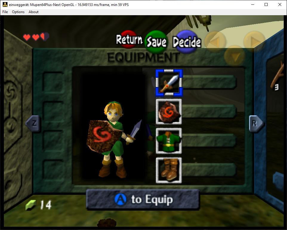 WIN64] Zelda OoT random freezing and rainbow pause screen
