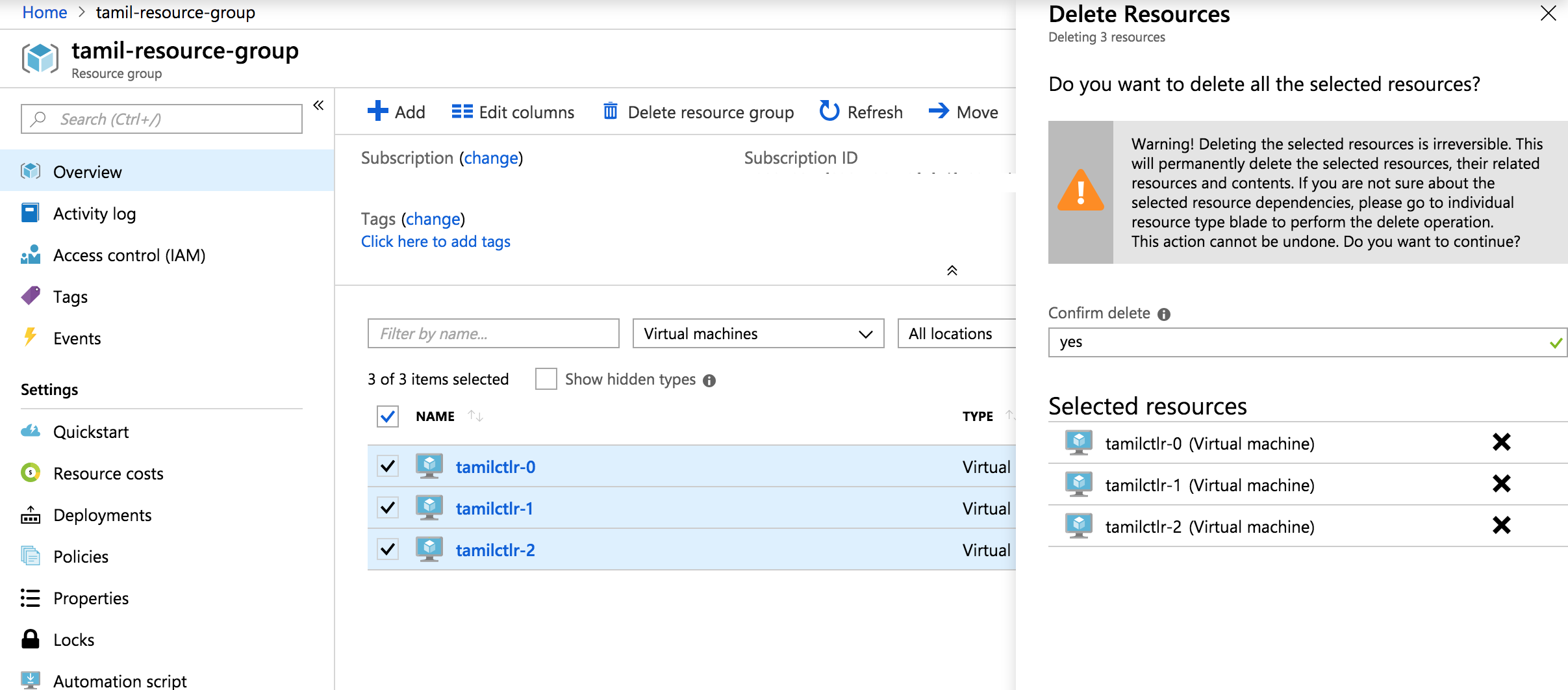How to Perform Bulk Delete in Azure Resource Group using Azure