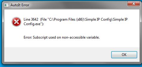 Error when launching programm on win 7