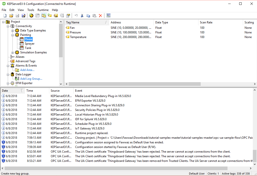 Failed connecting gateway to Kepware Server  · Issue #109
