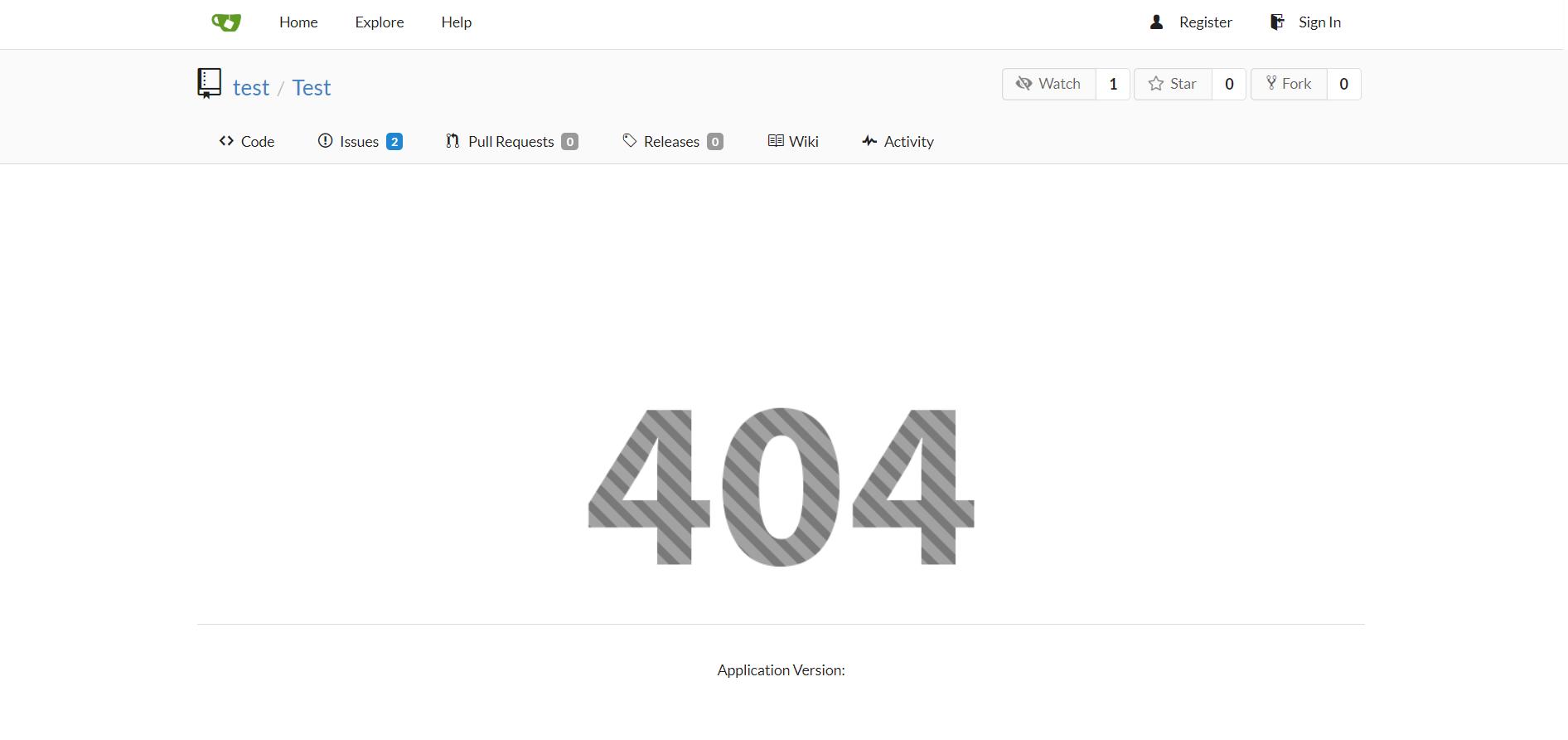repo 404
