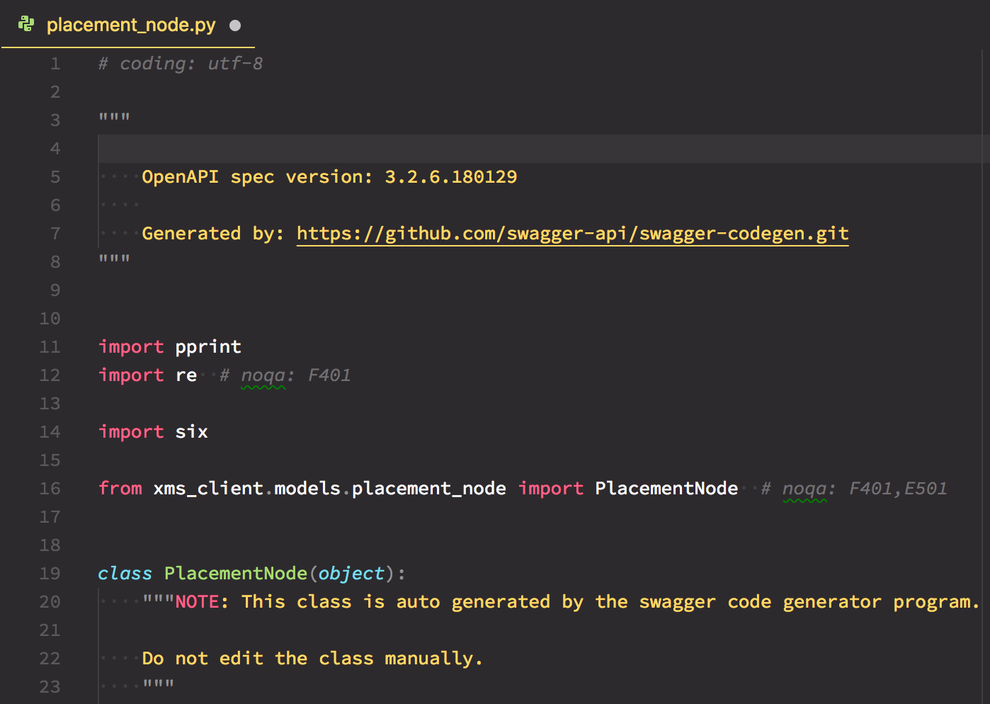 bug][python][model] Should not import self · Issue #7541