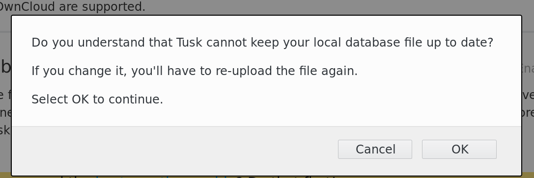 Not able to use keyfile after enabling it on keepass db