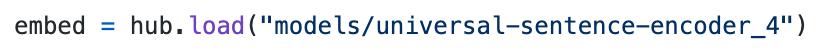 loading google's universal sentence encoder