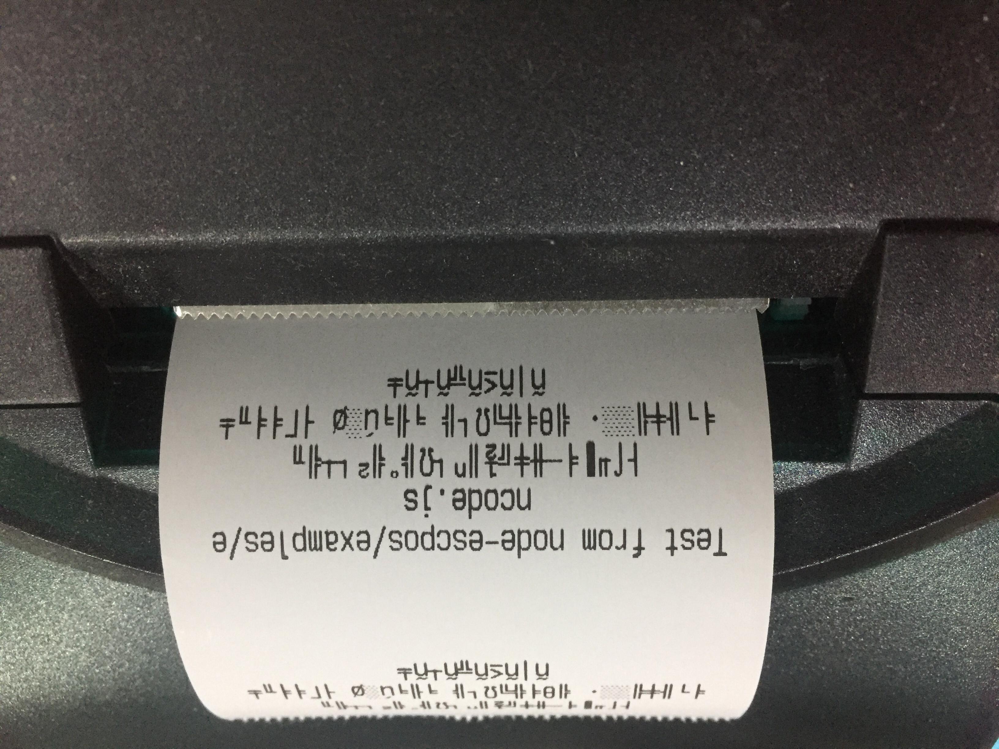 Node Js Receipt Printer