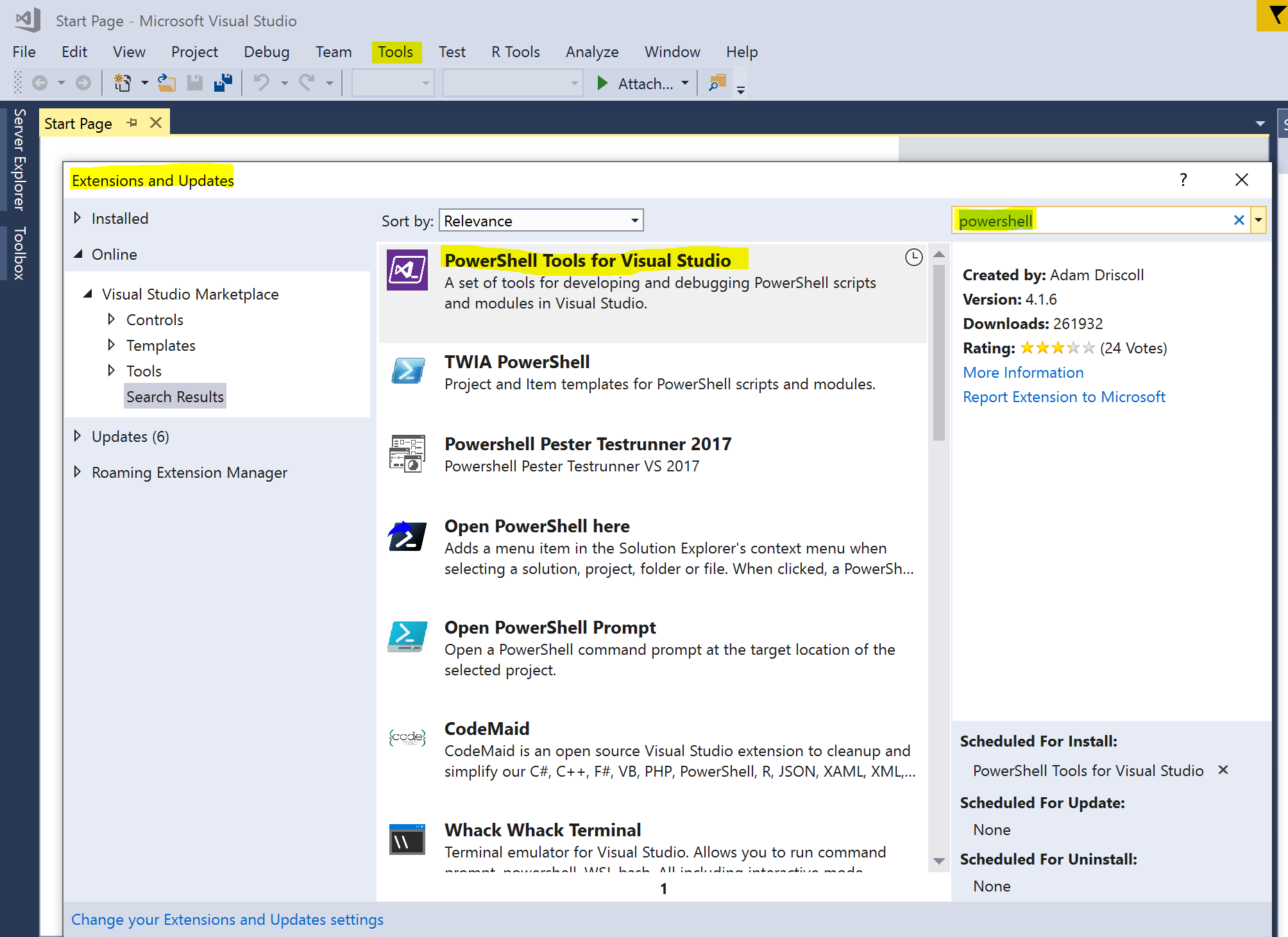 Can we use code to call azure powershell cmdlet/scripts in