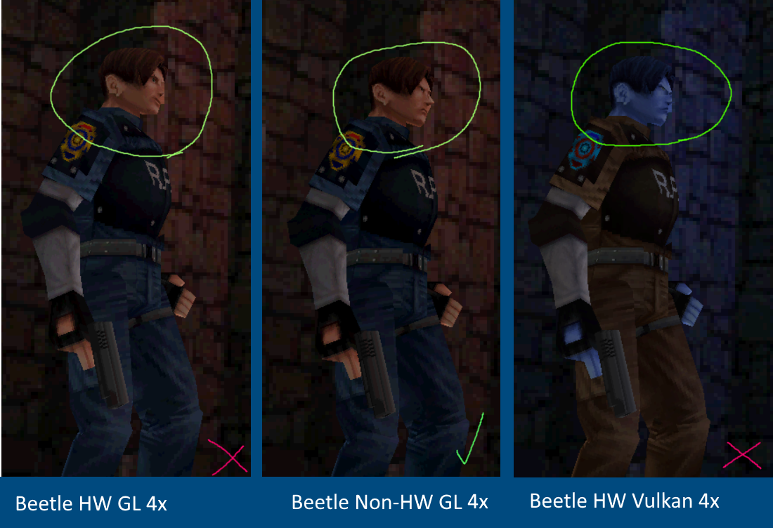 Vulkan/Beetle PSX HW] RE2 - Dual Shock Ver  - Texture