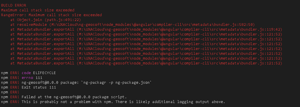 maximum call stack size exceeded (index.ts) · Issue #1093 · ng-packagr/ng-packagr  · GitHub