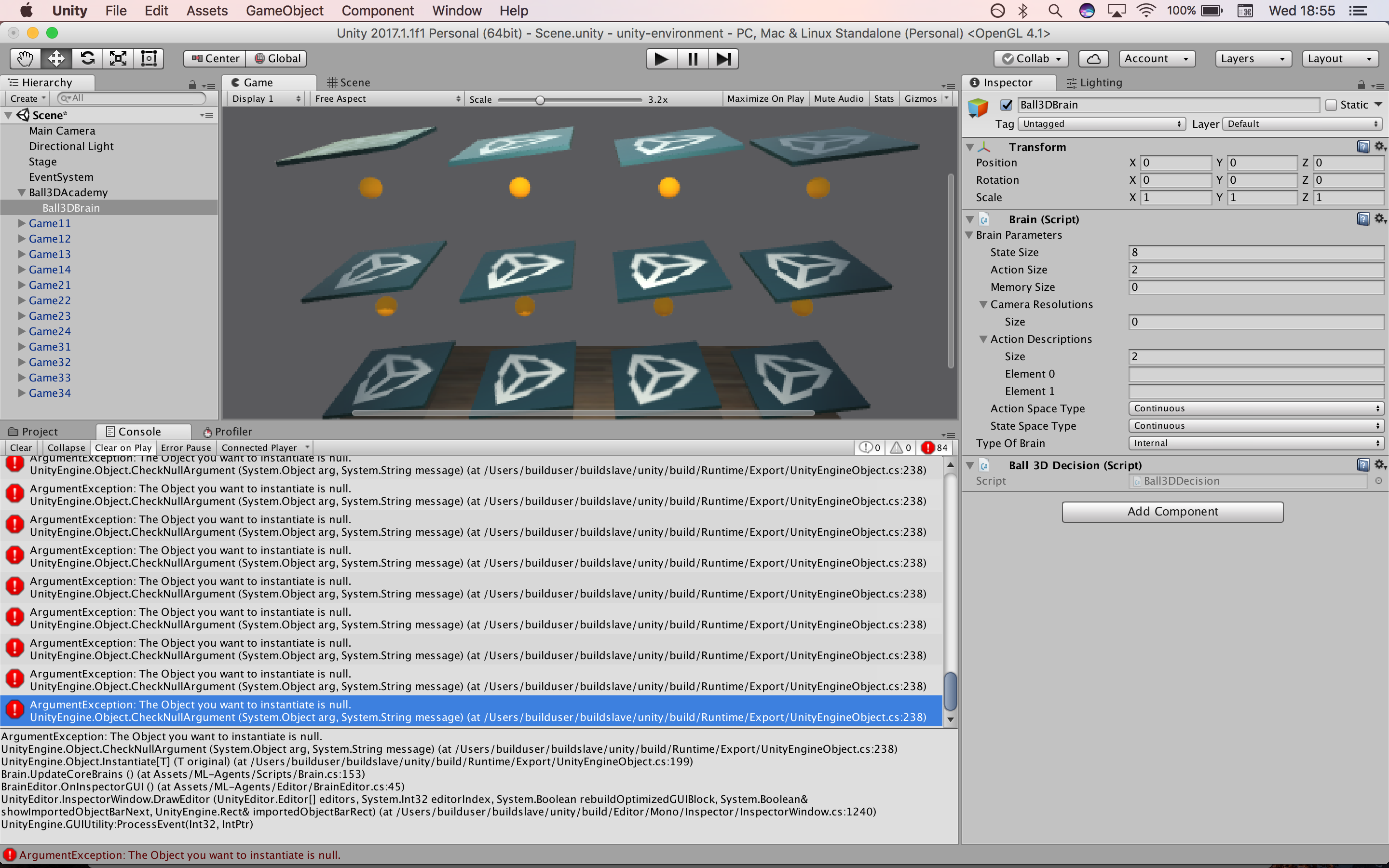 Unable to set Graph Model in Balance Ball · Issue #48 · Unity