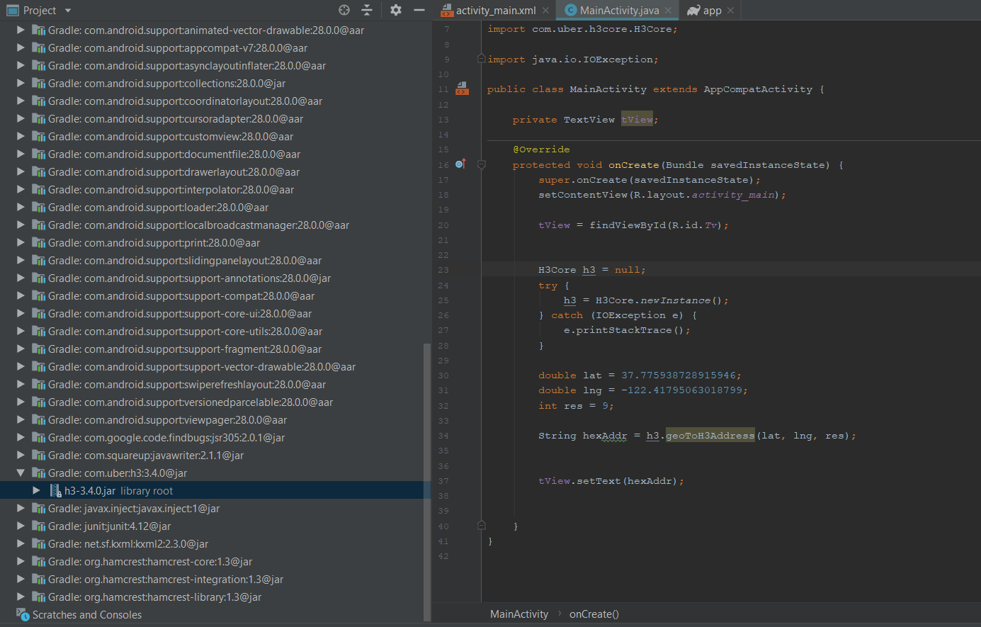 Android, can't use library · Issue #23 · uber/h3-java · GitHub