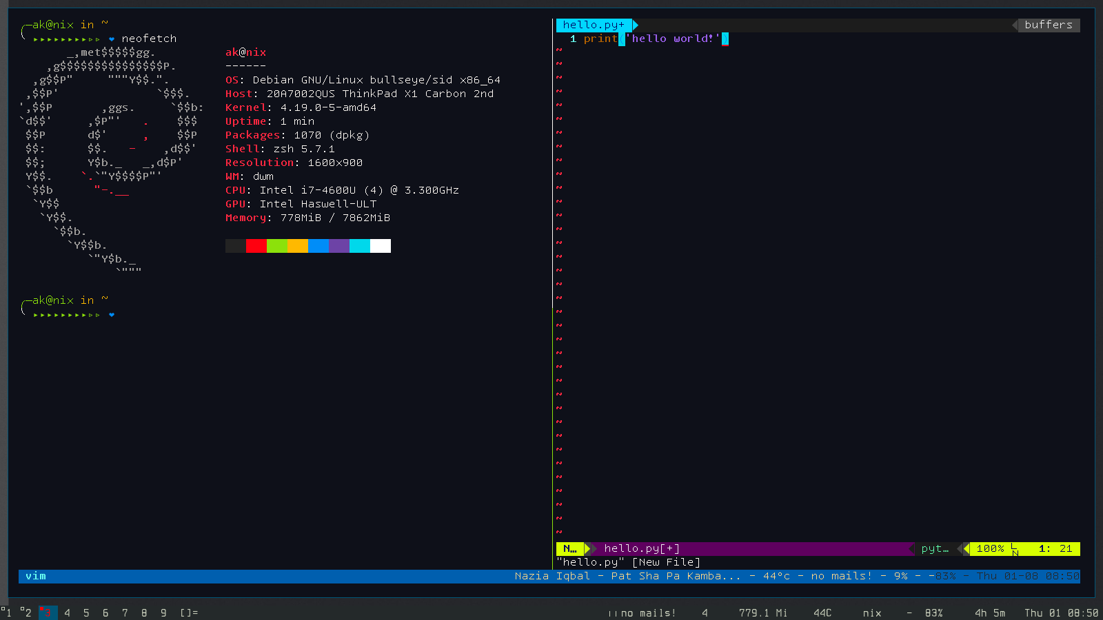 Archlinux] No powerline symbols in urxvt with tmux · Issue