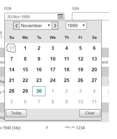 Primeng Calendar Clicking On Enabled Grayed Out Date Disappears The