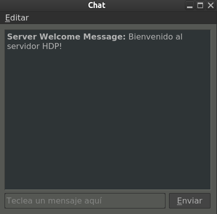 Chat dialog