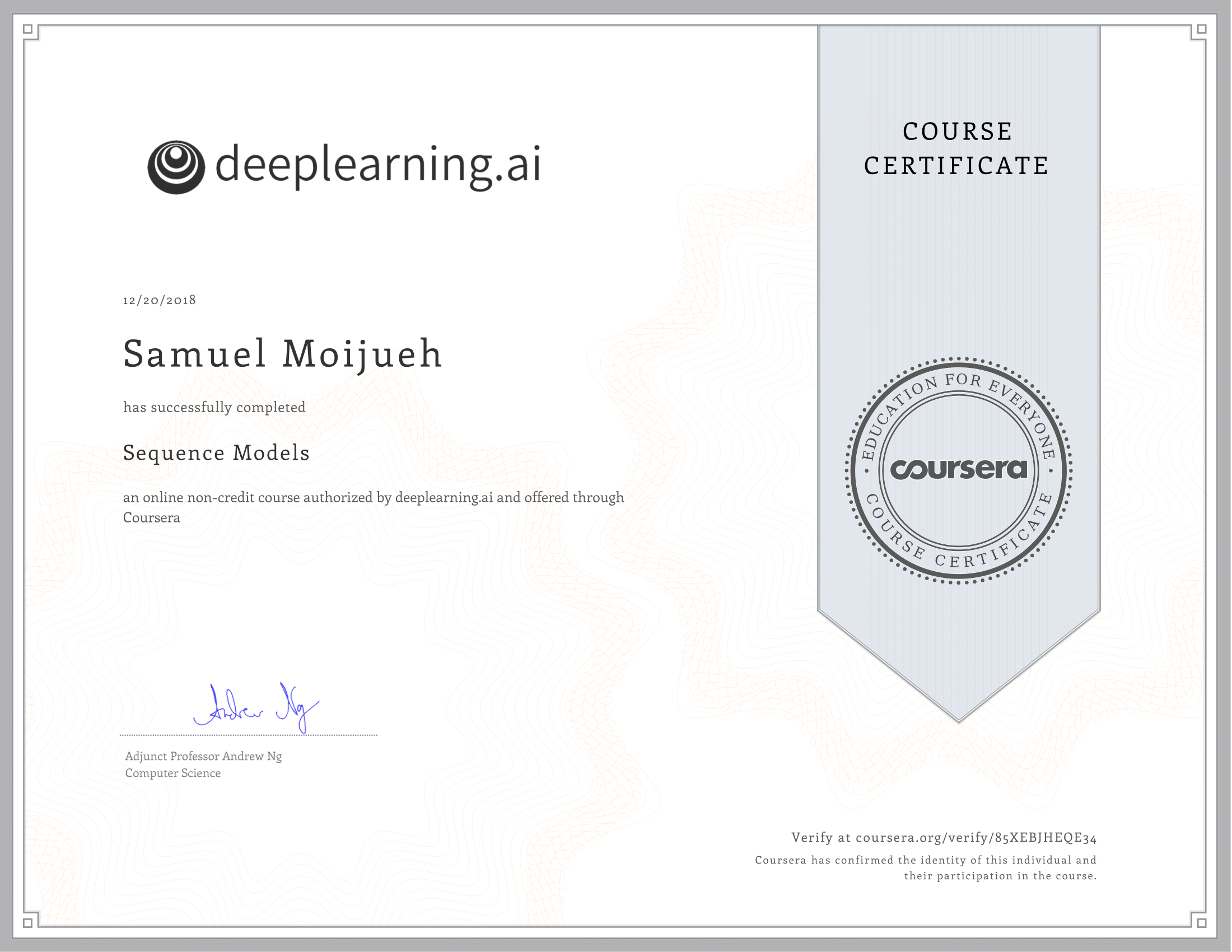 GitHub - smoijueh/deep-learning-coursera: Coursera Deep Learning