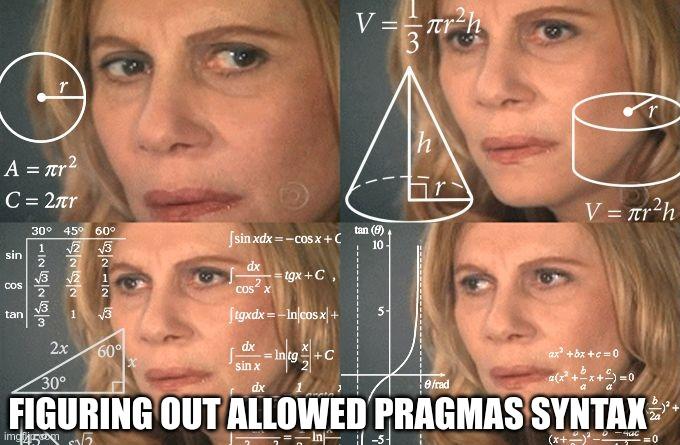 Pragmas Syntax