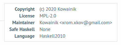 Safe Haskell: None