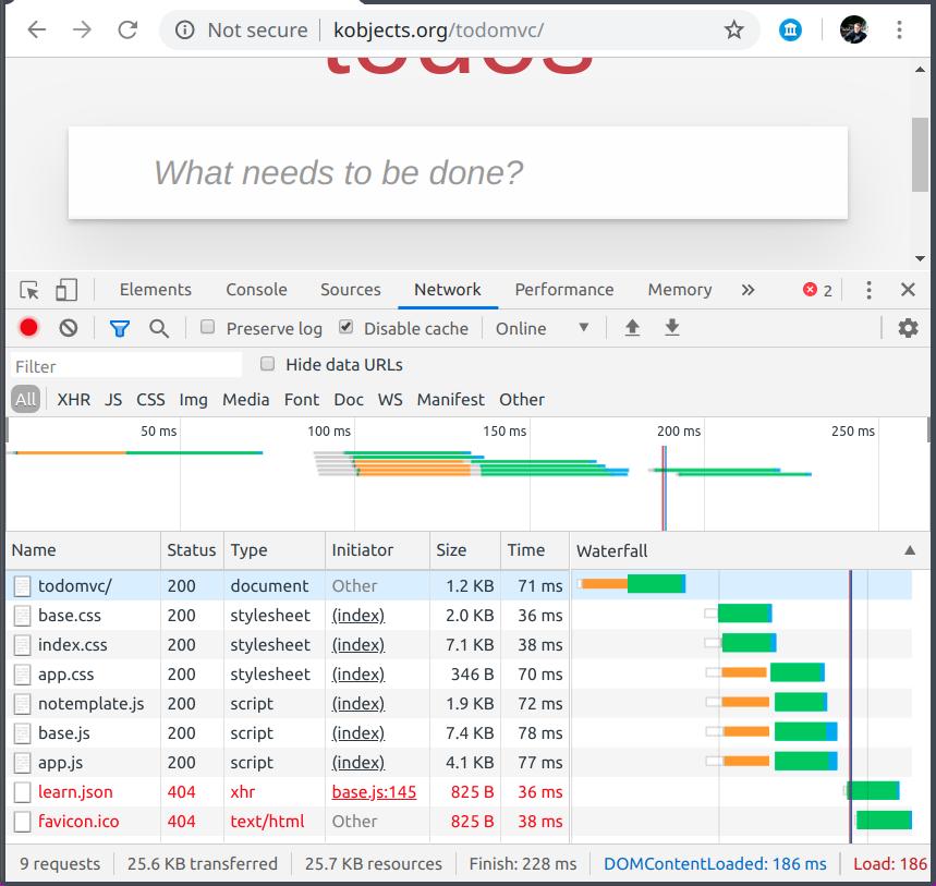Developer Tools Network Tab