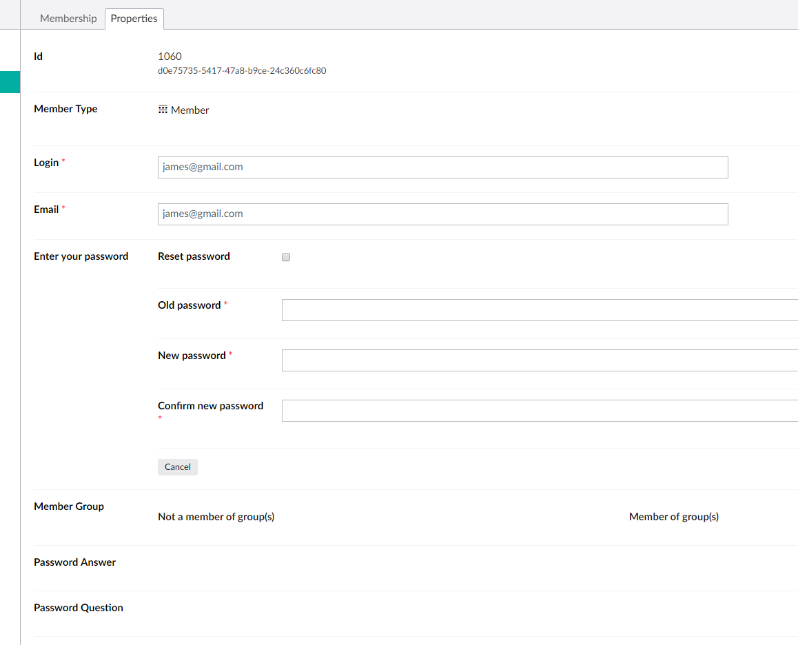 Working Not Member Password The As Expected Backoffice In Changing