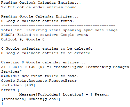 Sync is unable to create events on Google · Issue #582