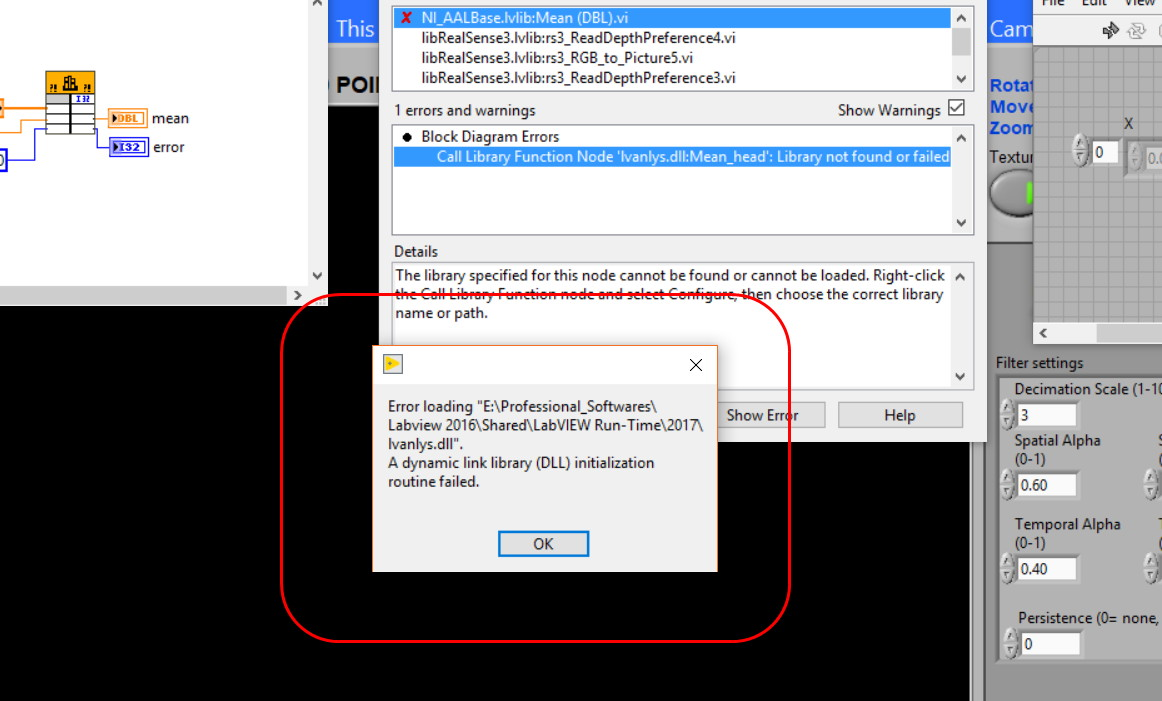 Can't open Labview pointcould example · Issue #2336