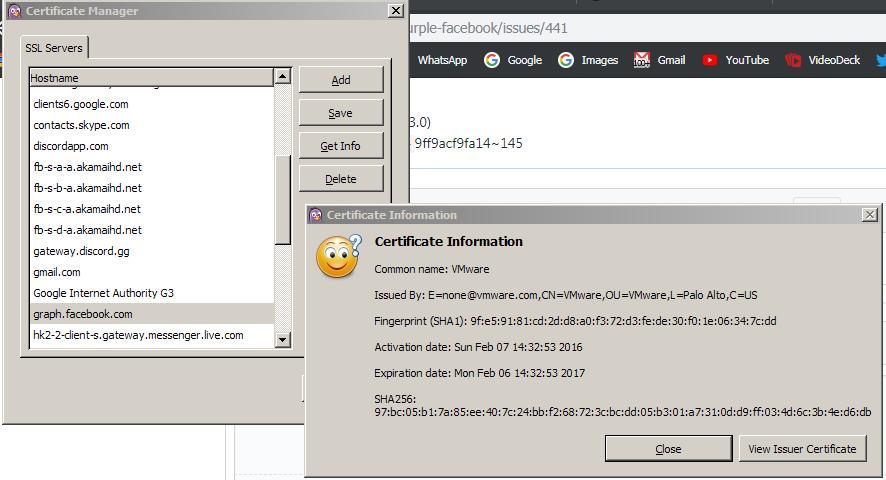 Help Ssl Certificate Verification Issue 441 Dequispurple