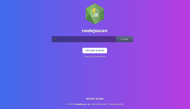 nodejsscan web ui