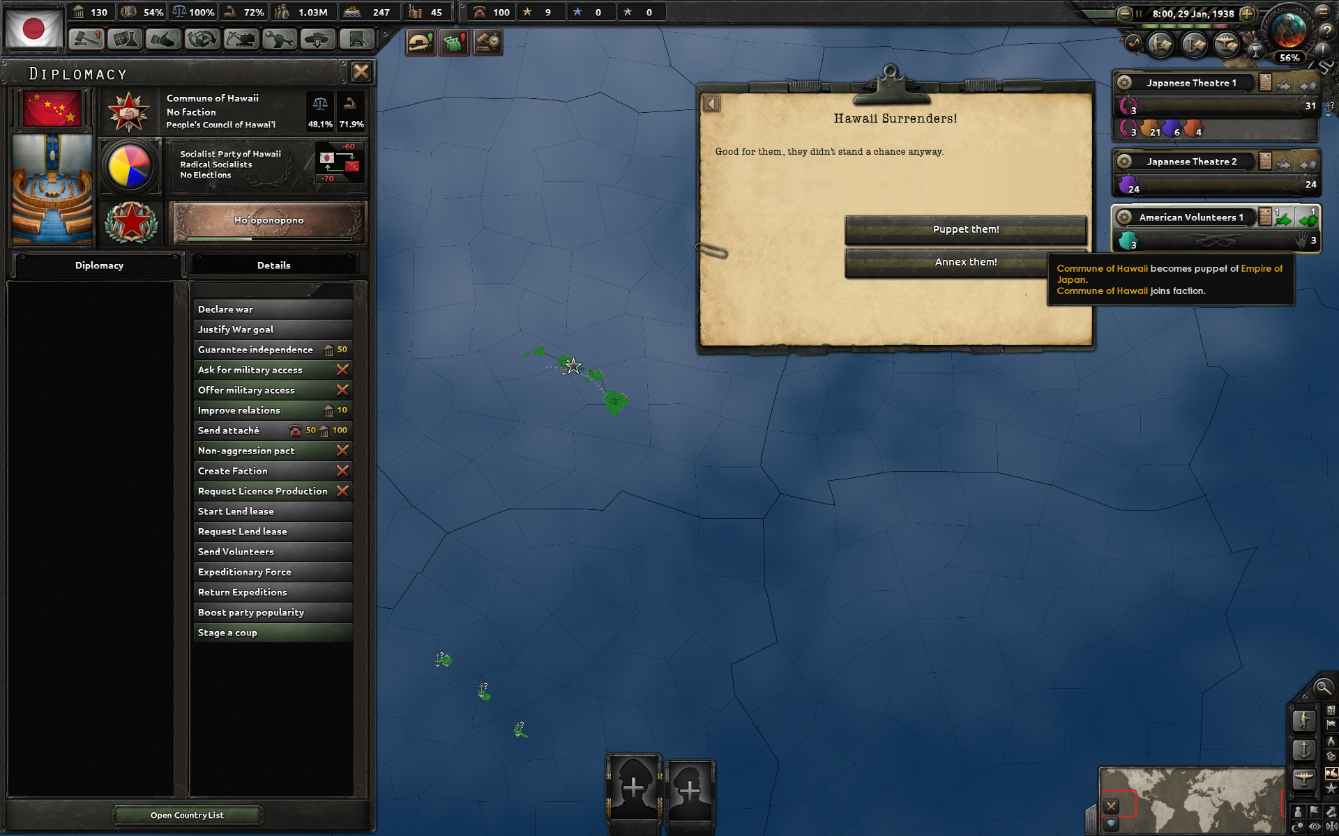 Hawaii as Japanese puppet is a bit syndie · Issue #3224 · KR4