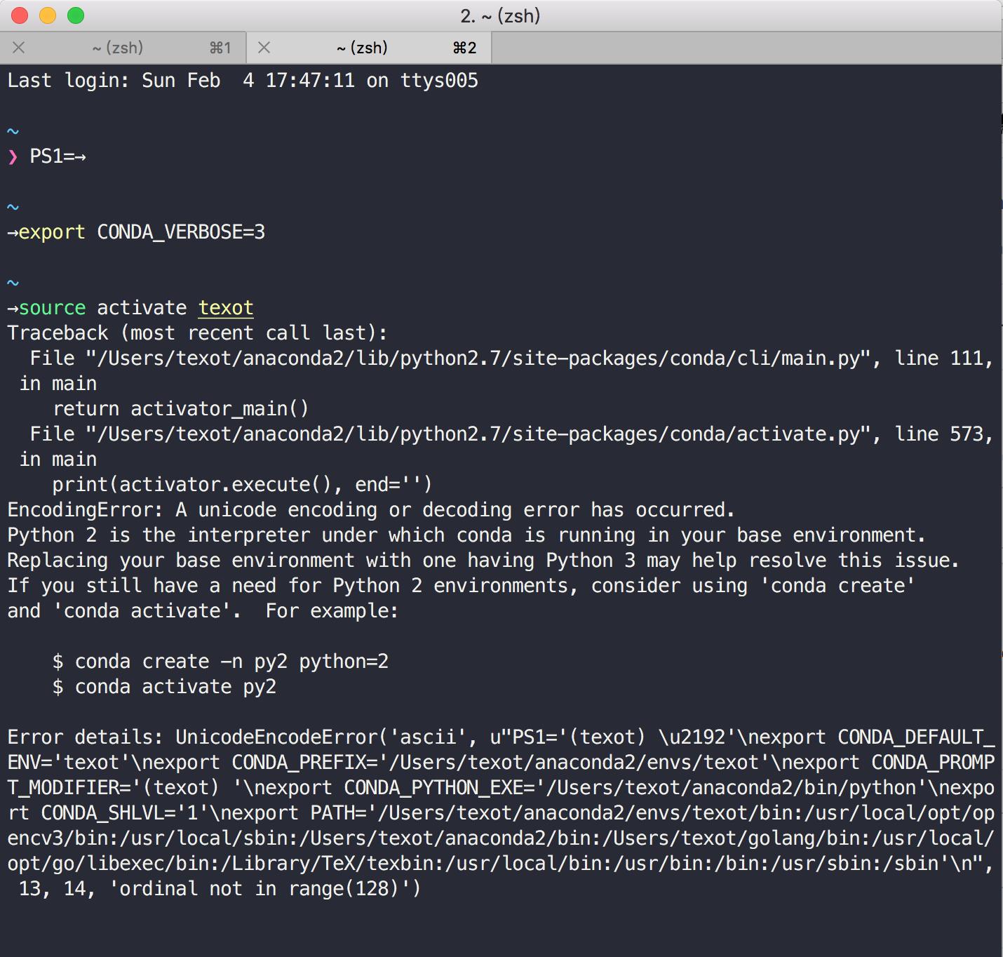 source activate env error · Issue #6739 · conda/conda · GitHub