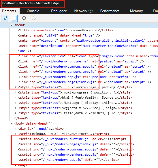 Nuxt 2 3 1 modern build issues on IE11/Edge · Bug Report #c8216