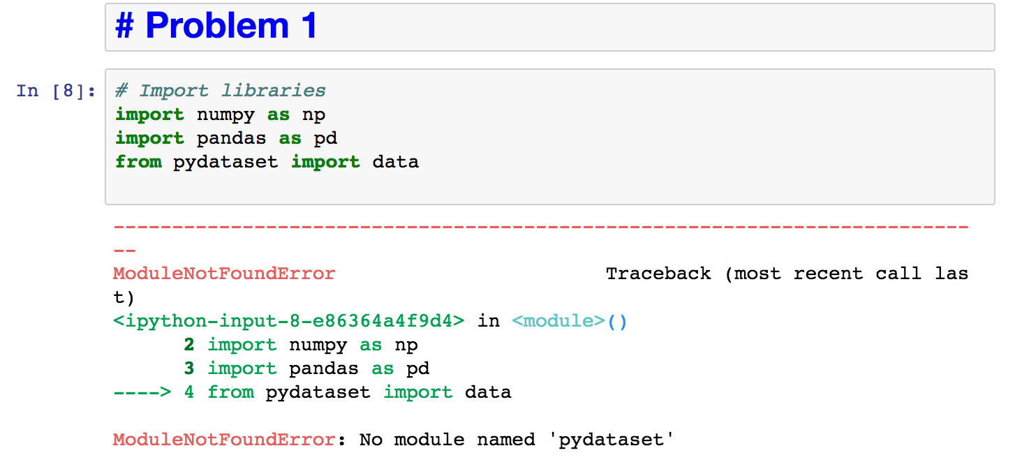 Resolve error importing pydataset · Issue #7
