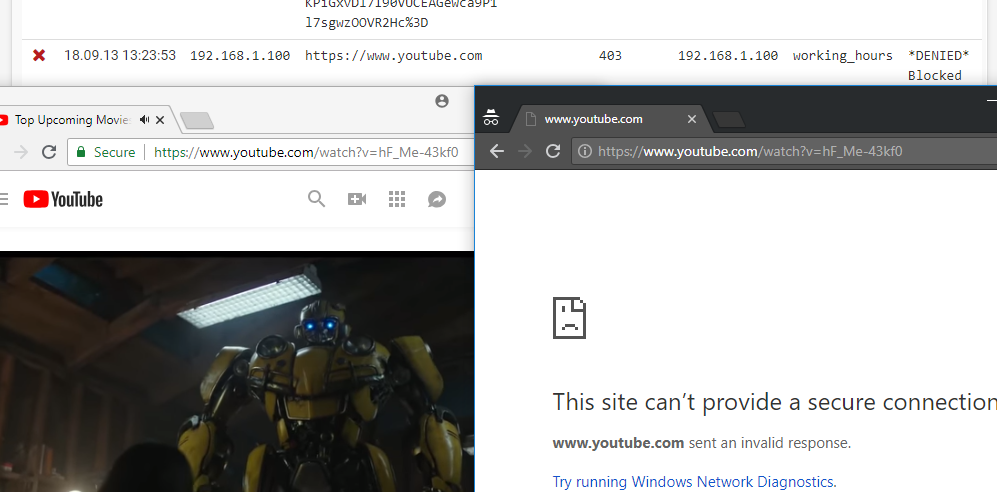 https Youtube block in ACL but still can access · Issue #444