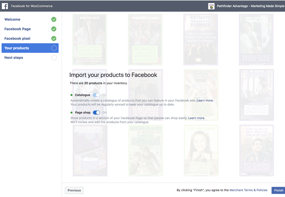 Facebook shop is not working - rejected and not published