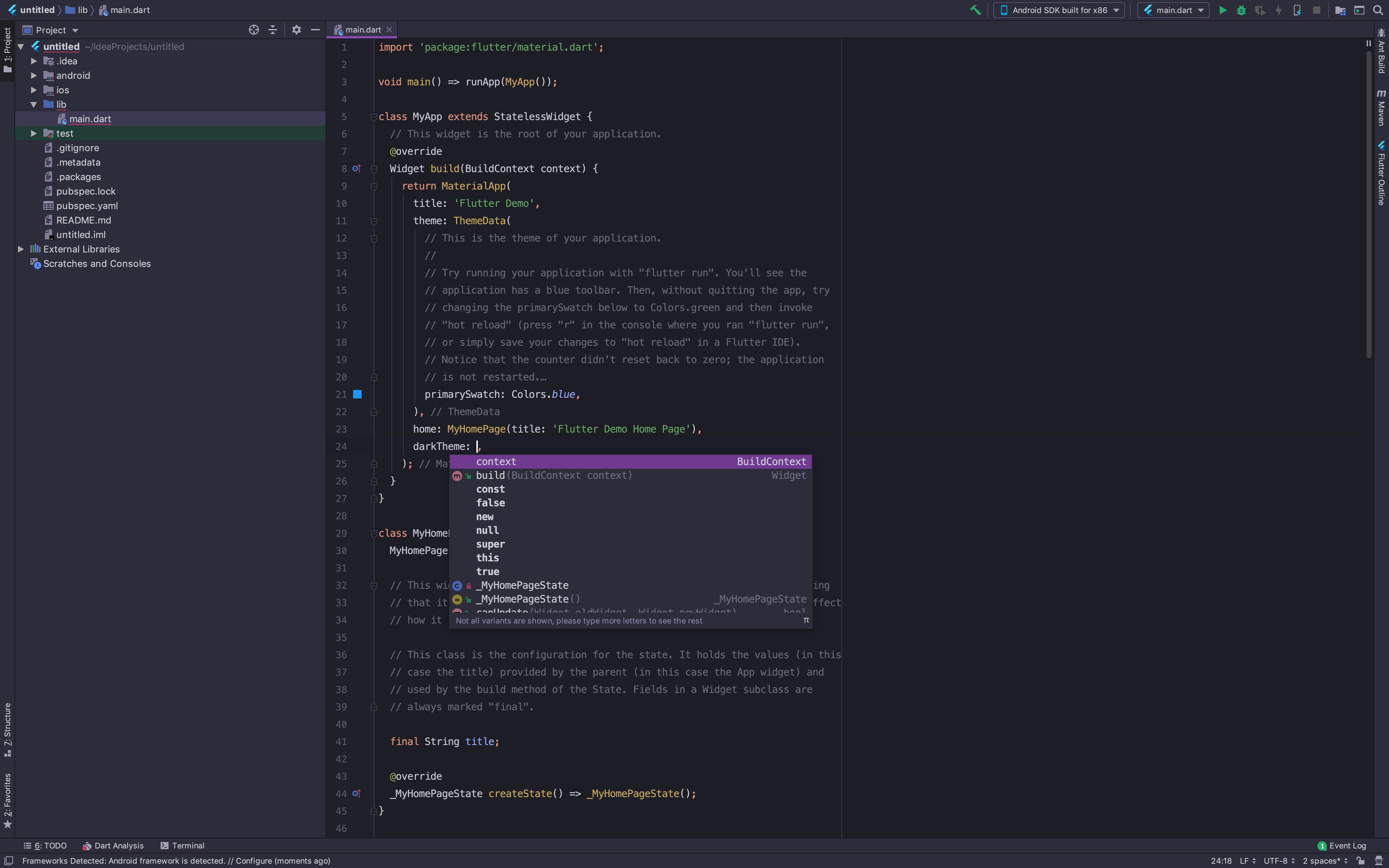 Intellij 2019, Intellisense is not working as expected
