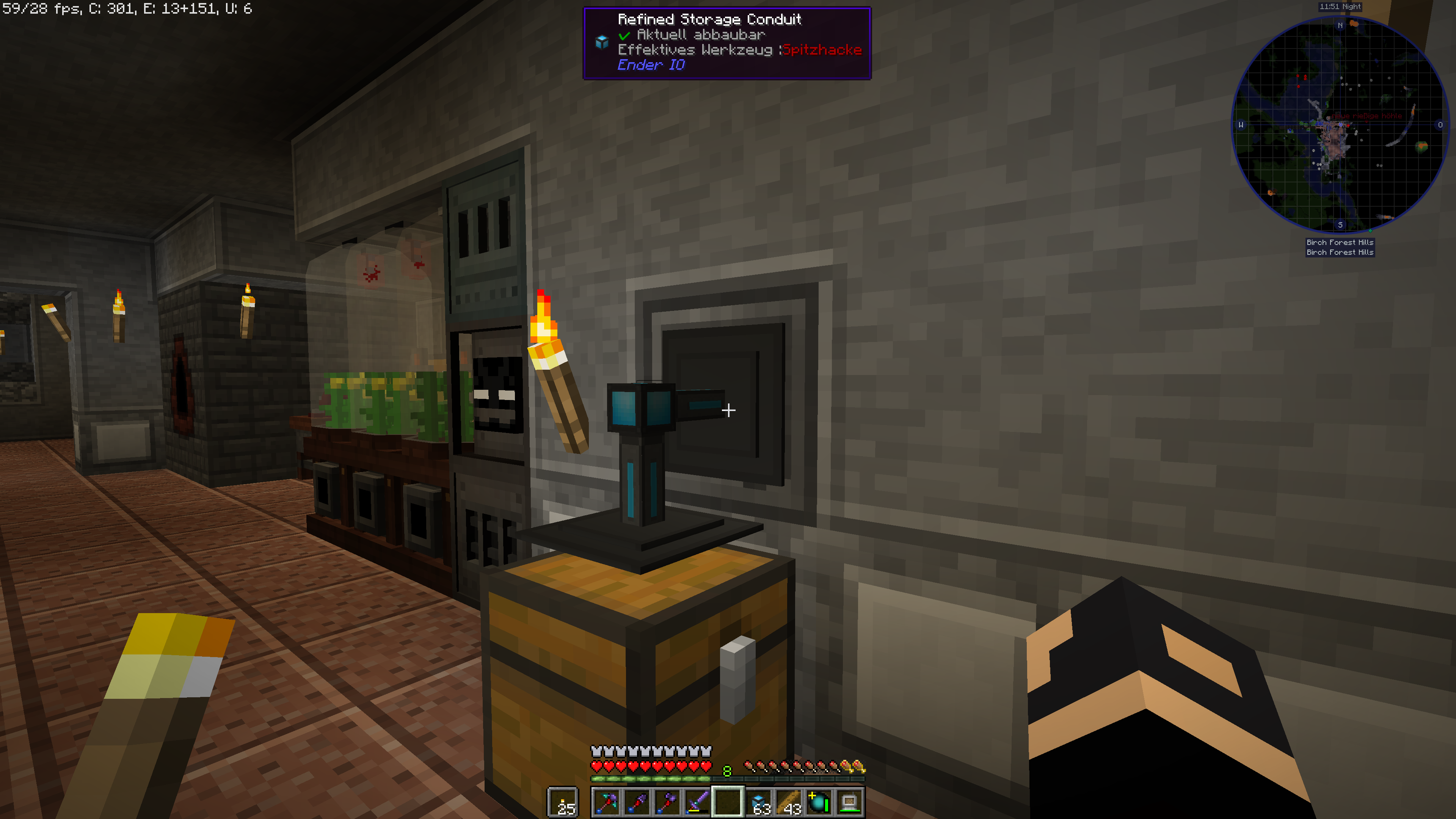 Refined Storage Enderio Cables - Exporting is not working