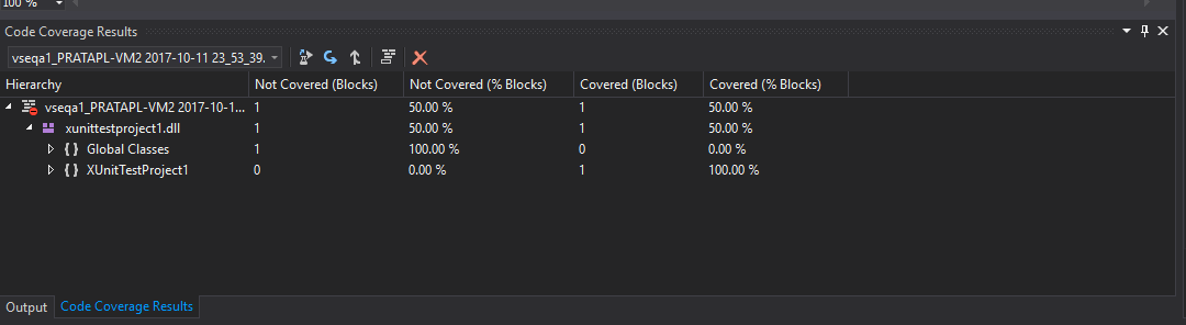 Code Coverage broken for  NETCore with xunit 2 3 0 · Issue
