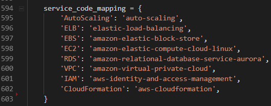 aws - adding kinesis to service code mapping · Issue #3578 · cloud