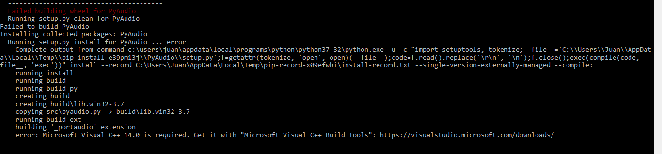 download microsoft visual c++ compiler for python 3.6