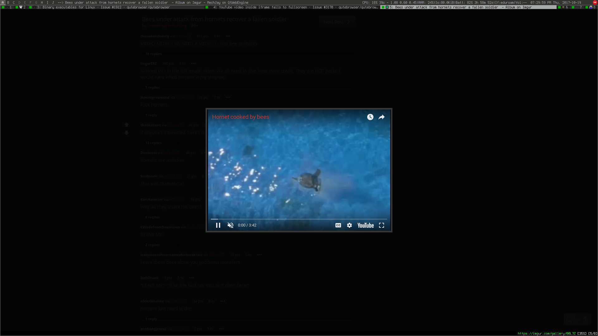 YouTube video inside iframe fails to fullscreen · Issue