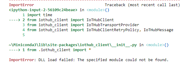 Error showing from  iothub_client import * · Issue #205