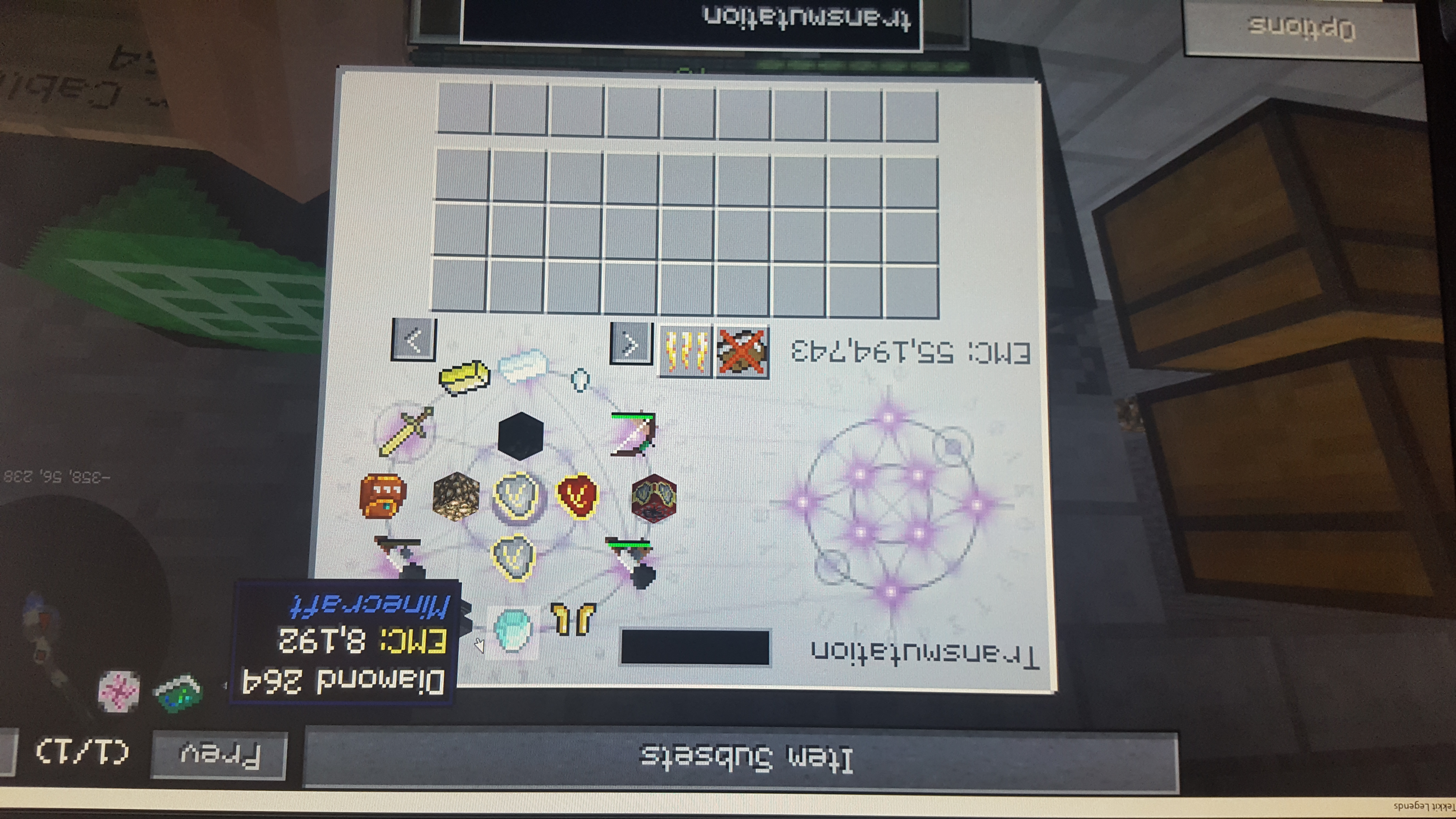 Transmutation table/tablet forget learned items/blocks