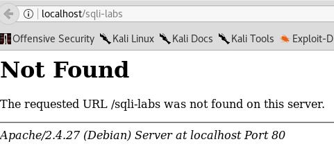 sqli-labs-error screen