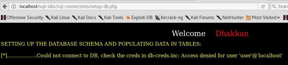 sqli-labs-database-error