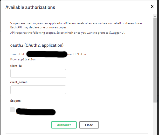 SwaggerUI OAuth2 clientCredentials authentication · Issue