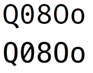 Feature Request: Provide font variant with slashed zero instead of