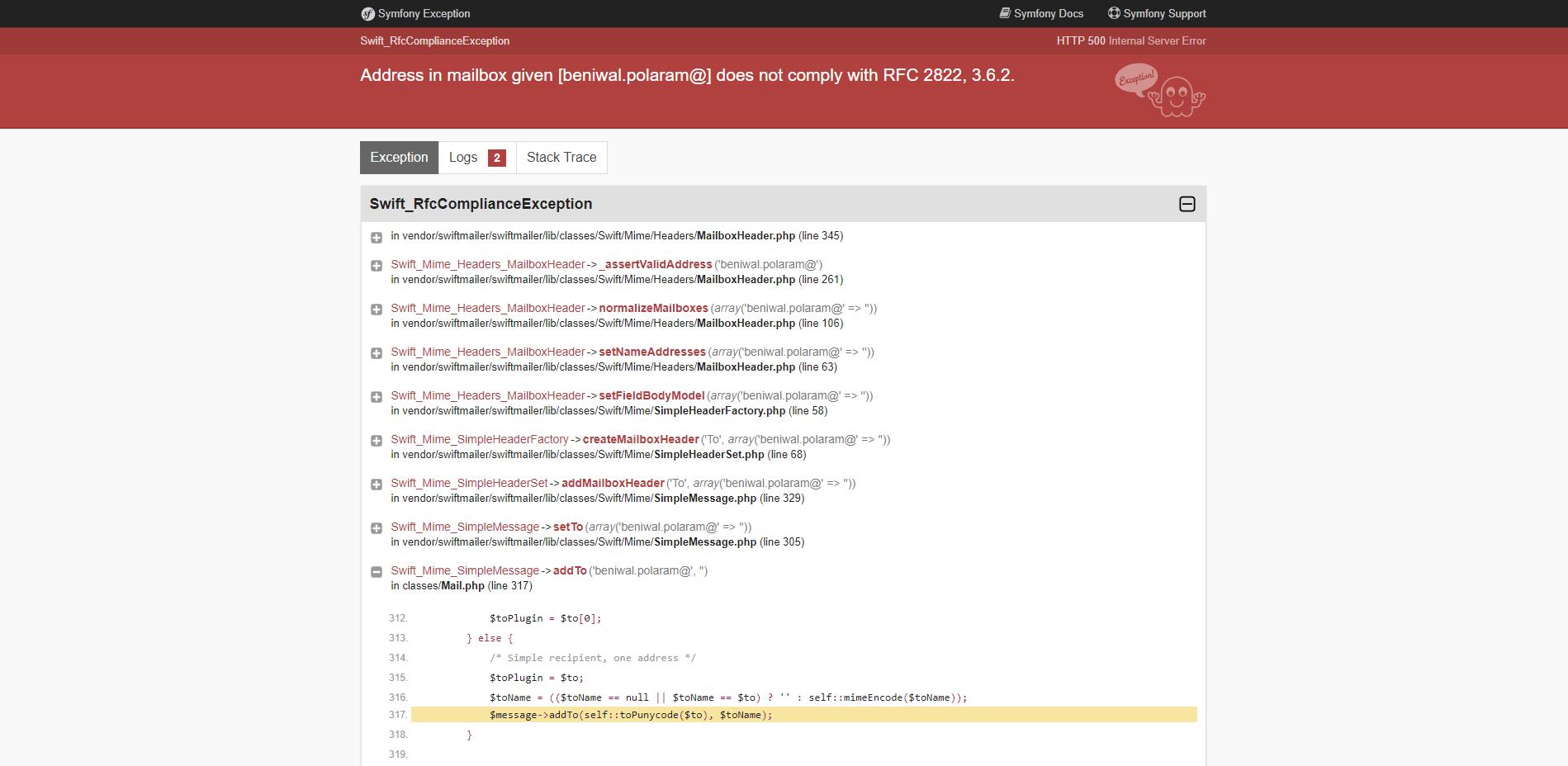 Swift Mailer Issue · Issue #12154 · PrestaShop/PrestaShop