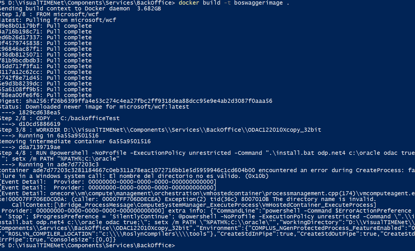 Oracle client ODAC in WCF for docker windows · Issue #4426